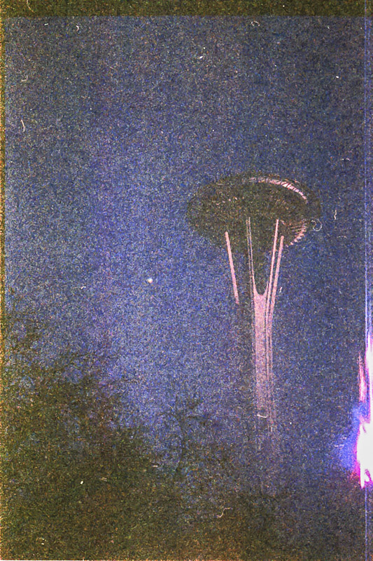 seattle space needle on Expired Kodak Gold Film