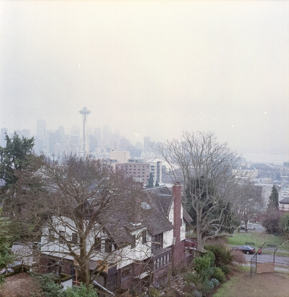 Yashica Mat-124G film image the space needle from Kerry Park